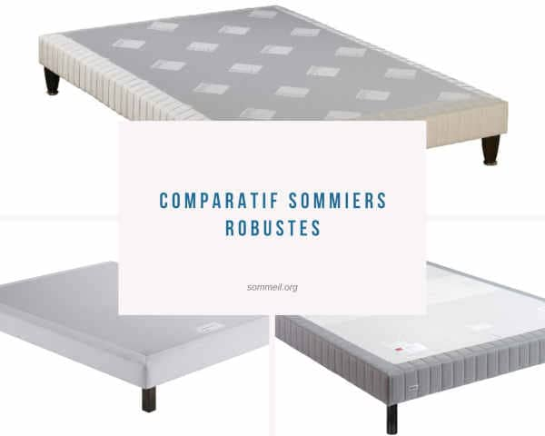 Comparatif Sommiers Robustes