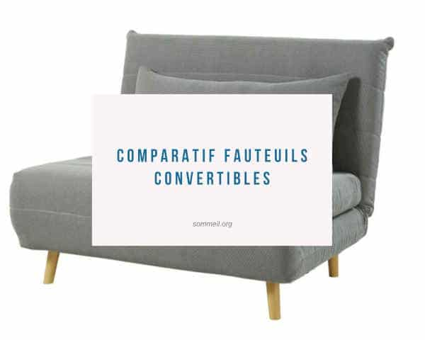 Comparatif fauteuils convertibles 1 place