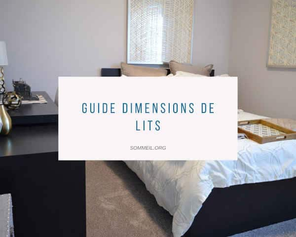Guide dimensions de lits